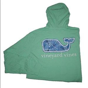 Vineyard Vines Green Whale Pullover Hoodie